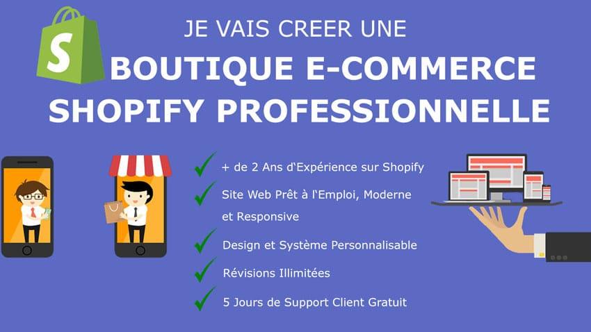 Création d'un Site Shopify pour votre Boutique E-Commerce