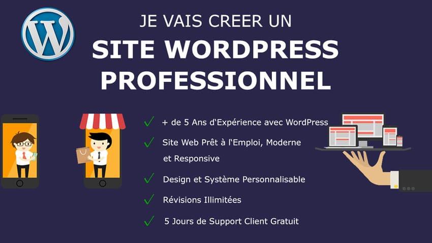 Création d'un Site Wordpress optimisé Mobile et SEO