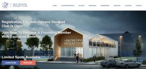 Site Shopify New Orleans Racquet Club